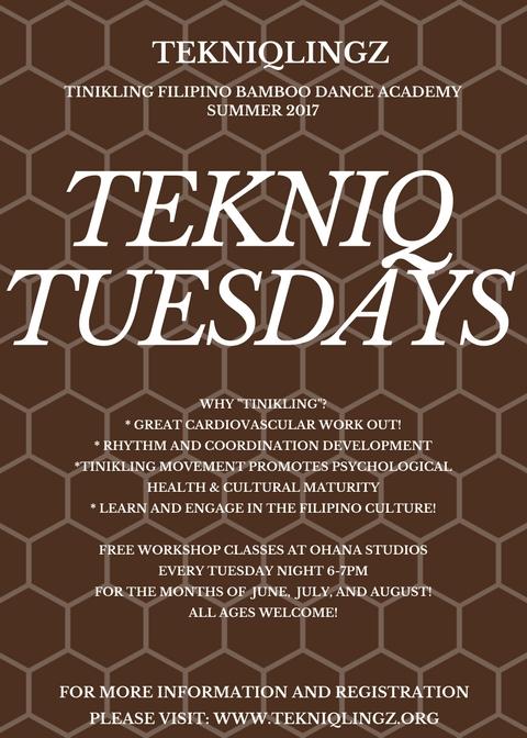 Tekniq Tuesdays Summer 2017